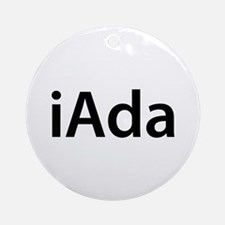 iAda Round Ornament