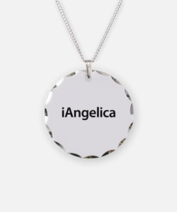 iAngelica Necklace Circle Charm