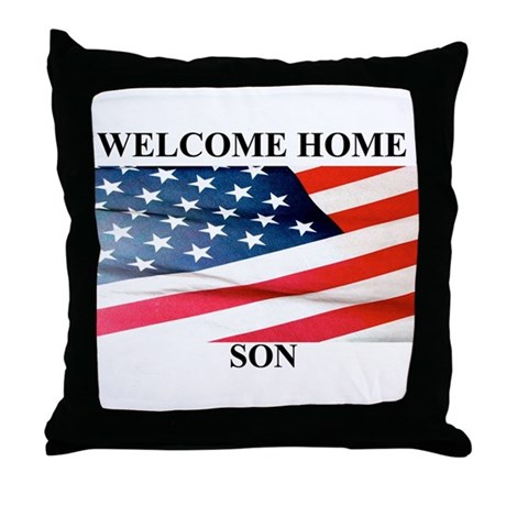 Welcome Home Throw Pillow : Welcome Home Throw Pillow by dreamgifts57