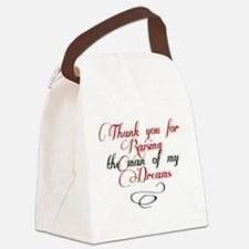 Man of my dreams Mother in law Canvas Lunch Bag