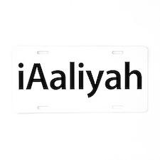 iAaliyah Aluminum License Plate