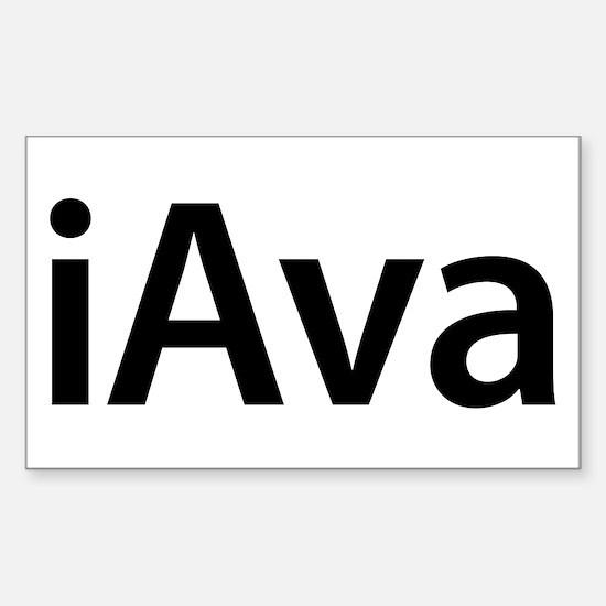 iAva Rectangle Decal