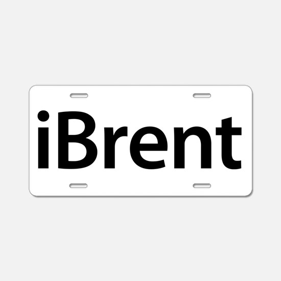 iBrent Aluminum License Plate