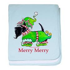 Merry Merry Scottish Terrier baby blanket