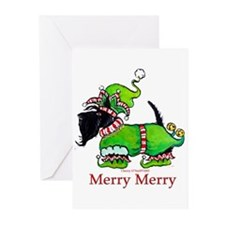 Merry Merry Scottish Terrier Greeting Cards (Pk of