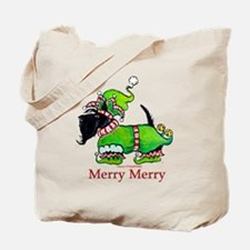 Merry Merry Scottish Terrier Tote Bag