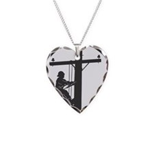 Cute Electrical lineman Necklace