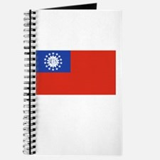 Myanmar Flag Picture Journal