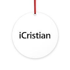 iCristian Round Ornament