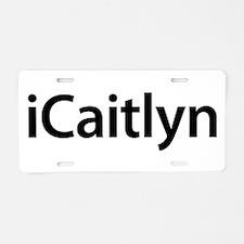 iCaitlyn Aluminum License Plate