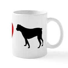 I Heart American Bulldog Mug