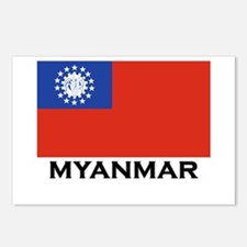 Myanmar Flag Stuff Postcards (Package of 8)