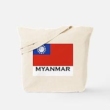 Myanmar Flag Stuff Tote Bag