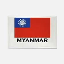 Myanmar Flag Stuff Rectangle Magnet