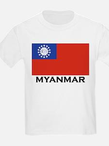 Myanmar Flag Stuff Kids T-Shirt