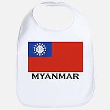 Myanmar Flag Stuff Bib