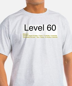 Level 60 Ash Grey T-Shirt