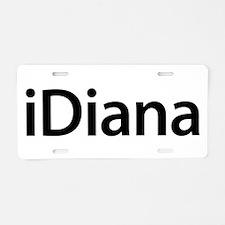 iDiana Aluminum License Plate