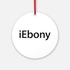 iEbony Round Ornament