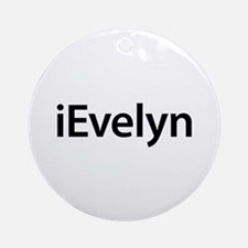 iEvelyn Round Ornament