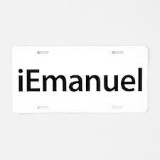 iEmanuel Aluminum License Plate