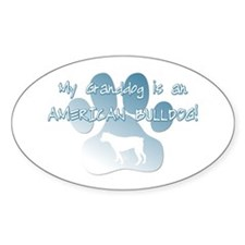 Am Bulldog Granddog Oval Decal