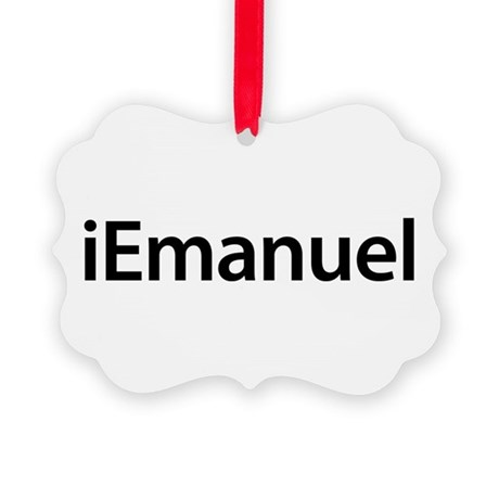iEmanuel Picture Ornament