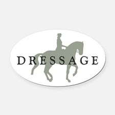 3-piaffe dressage text.png Oval Car Magnet