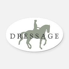 Piaffe W/ Dressage Text Oval Car Magnet