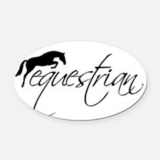 Cool Equine Oval Car Magnet