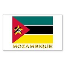 Mozambique Flag Stuff Rectangle Decal