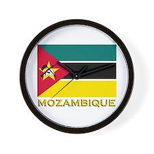 Mozambique Flag Stuff Wall Clock