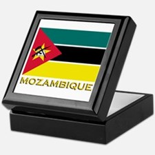 Mozambique Flag Stuff Keepsake Box