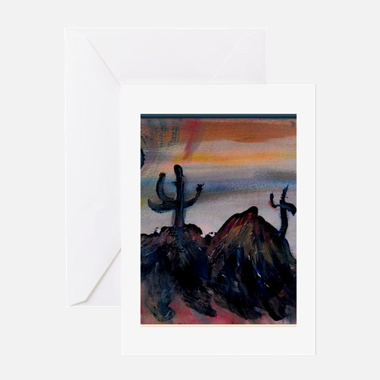 Desert, southwest landscape, art, Greeting Card