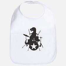 T-Rex Playing the Drums Bib