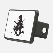 T-Rex Playing the Drums Hitch Cover