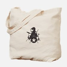 T-Rex Playing the Drums Tote Bag