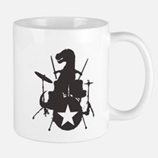 T-Rex Playing the Drums Mug