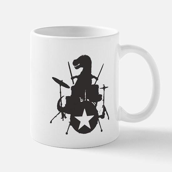 T-Rex Playing the Drums Mug
