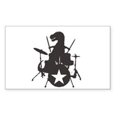 T-Rex Playing the Drums Decal