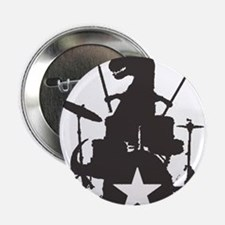 "T-Rex Playing the Drums 2.25"" Button"