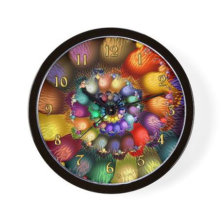 Fractal Spiral 2 Wall Clock