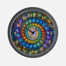 Fractal Spiral Shell Beads Wall Clock