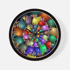 Fractal Spiral 1 Wall Clock