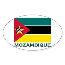 Mozambique Flag Merchandise Oval Decal