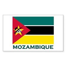 Mozambique Flag Merchandise Rectangle Decal