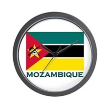Mozambique Flag Merchandise Wall Clock