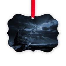 Ghost ship series: Chasing the light Ornament