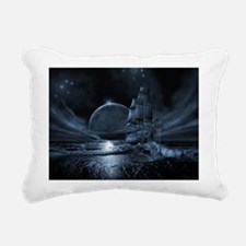 Cute Ghost ship Rectangular Canvas Pillow