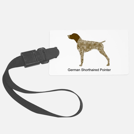 Liver & White GSP Luggage Tag